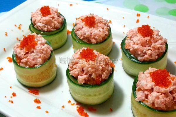 鲑鱼小寿司的做法