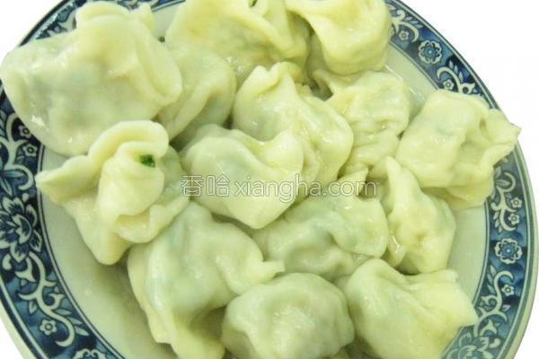 韭菜水饺的做法