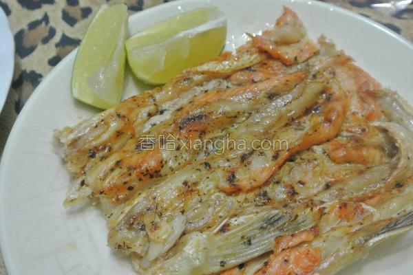 香烤鲑鱼肚的做法