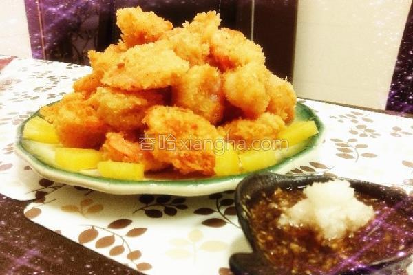 创意年菜日式炸虾的做法
