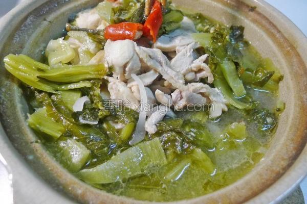 辣味酸菜水煮鸡的做法
