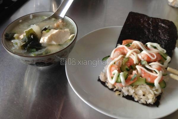 鲜虾寿司的做法