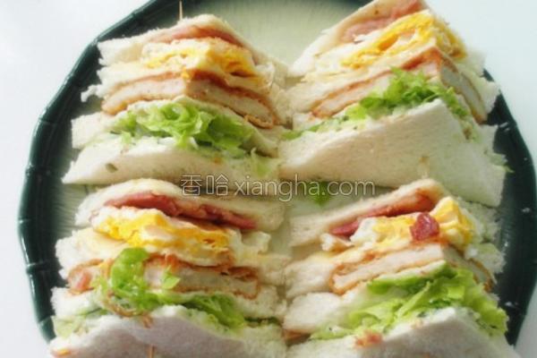 总汇鸡排三明治的做法