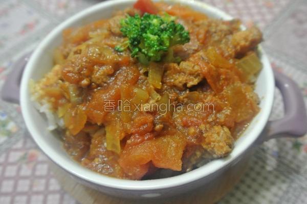 番茄红酱烩饭的做法