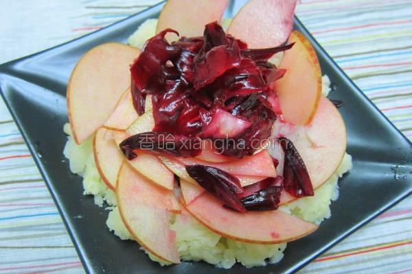 洛神苹果轻沙拉的做法