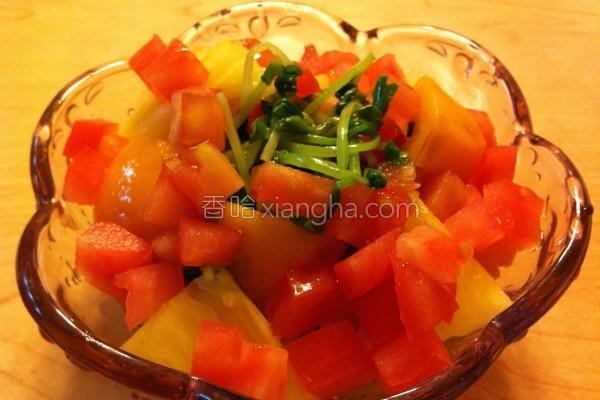 梅汁拌豌豆苗蔬果的做法
