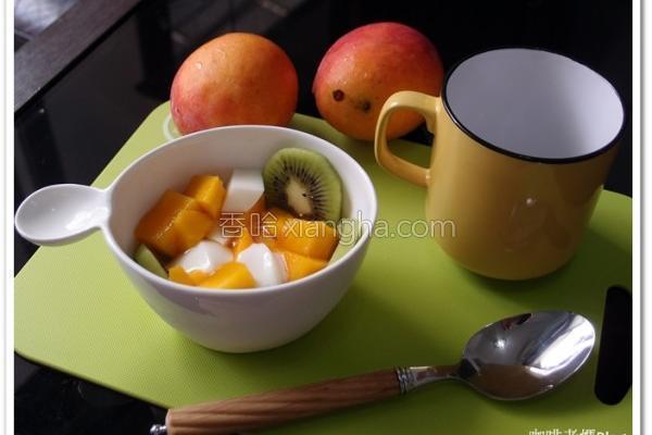 芒果杏仁豆腐的做法