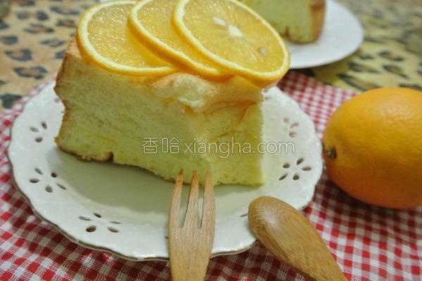 面粉柳橙戚风蛋糕的做法