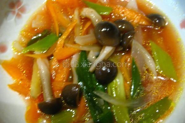 青葱炒菇菇的做法