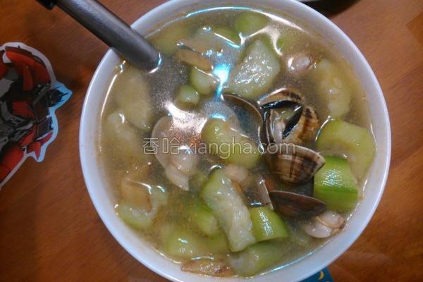 黑麻油丝瓜蛤蜊汤的做法