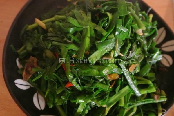 清烫韭菜拌油葱的做法