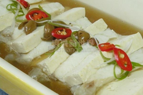破布子蒸鲜鱼豆腐的做法