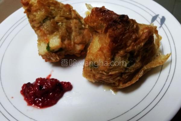 红润酿佐炸肉卷的做法