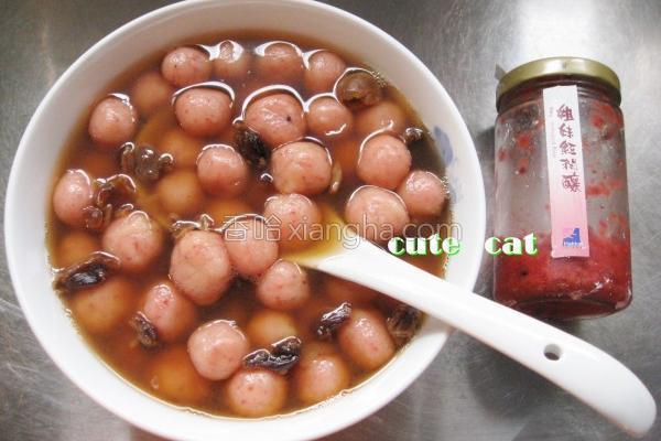 黑糖红麹汤圆的做法