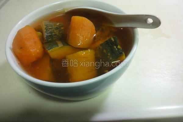 南瓜番薯甜汤的做法