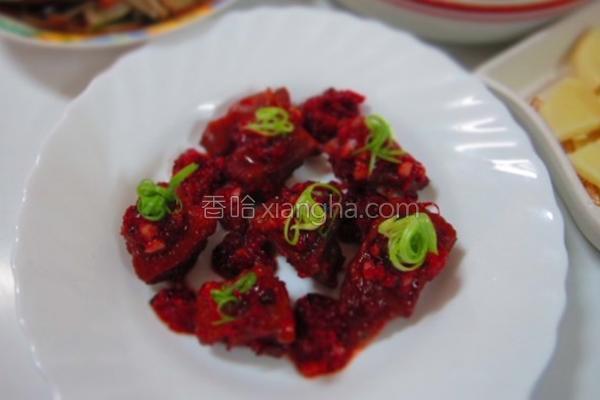 红麹酱烧鸡块的做法