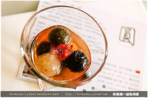 黑Q红麹糯米甜汤的做法