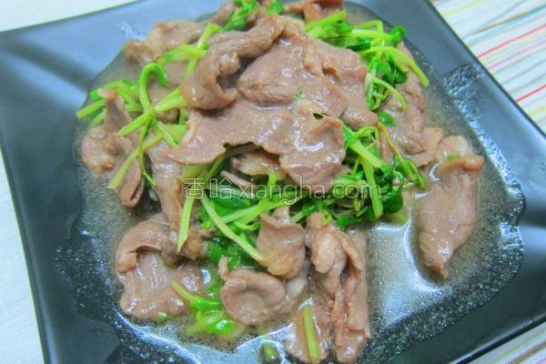豆苗炒羊肉的做法