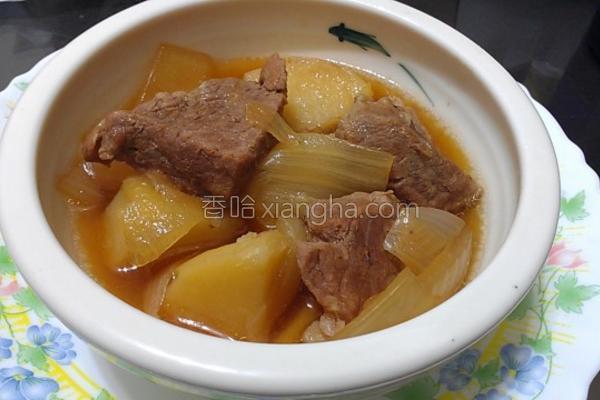 马铃薯炖肉的做法