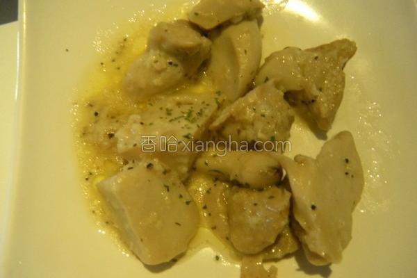 奶油蒜味杏包菇的做法