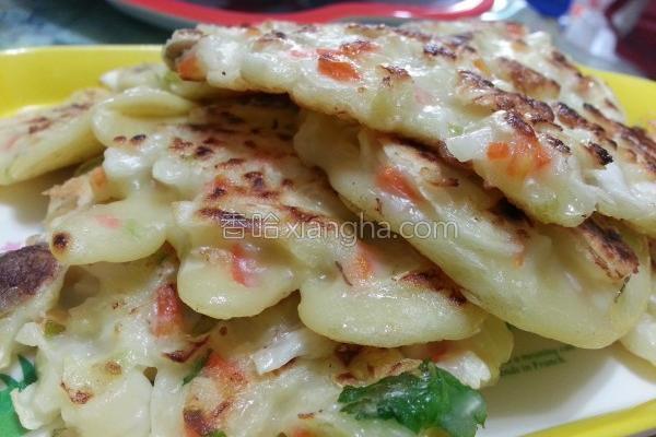 菇菇蔬菜煎饼的做法