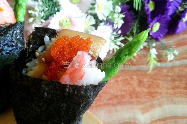 鲽鱼握寿司的做法