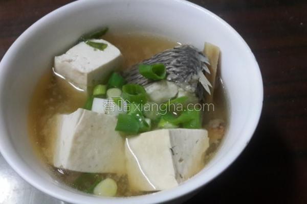 鲜鱼豆腐味噌汤的做法