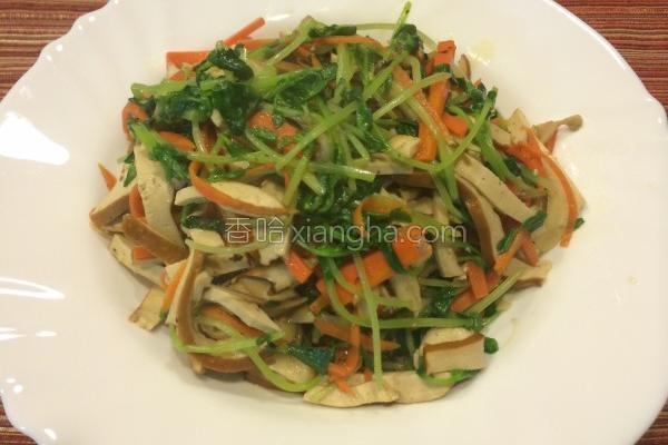 豌豆苗炒三丝的做法