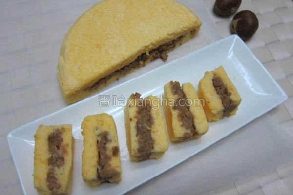 面粉栗子蒸蛋糕的做法