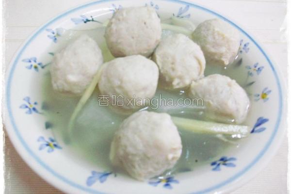 冬瓜鱼丸汤的做法