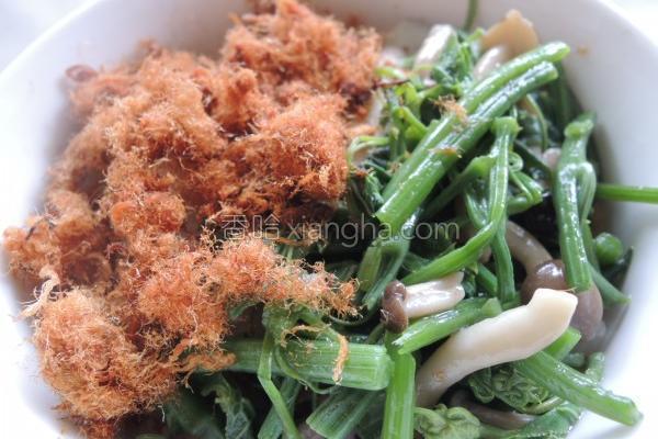 菇菇肉松盖饭的做法