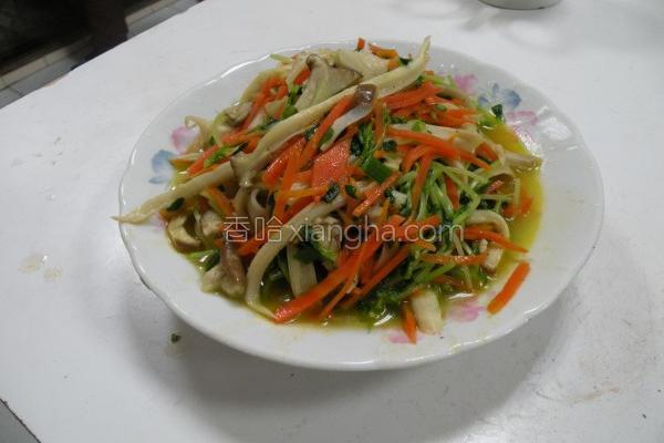 炒蔬食的做法