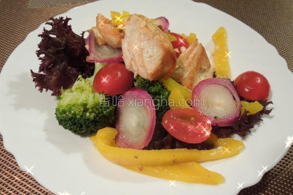 春日果香鲑鱼沙拉的做法