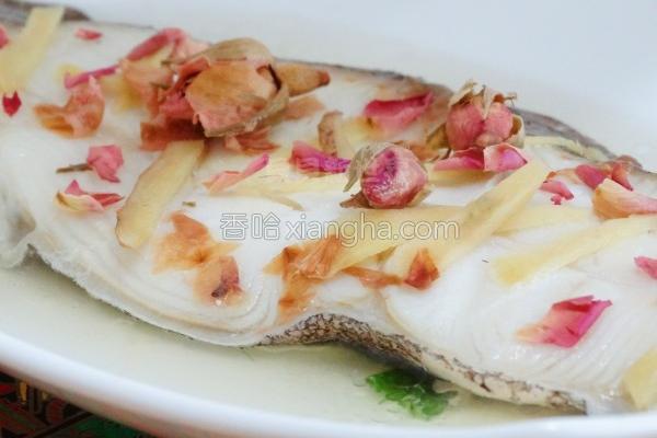 玫瑰花瓣蒸鳕鱼的做法