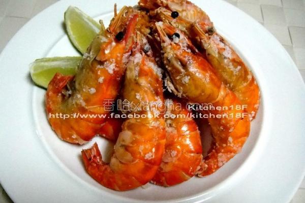 盐烤泰国虾的做法