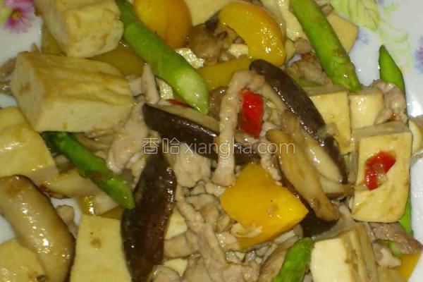 热炒猪肉豆腐的做法