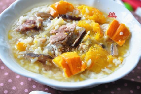 姜丝南瓜排骨粥的做法