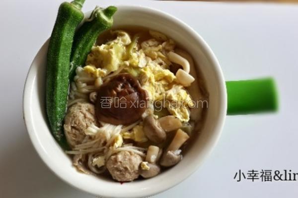 秋葵香菇泡饭的做法