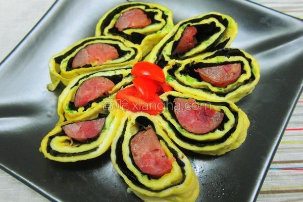 香肠海苔蛋卷的做法