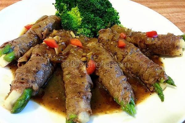 黑胡椒肉卷的做法