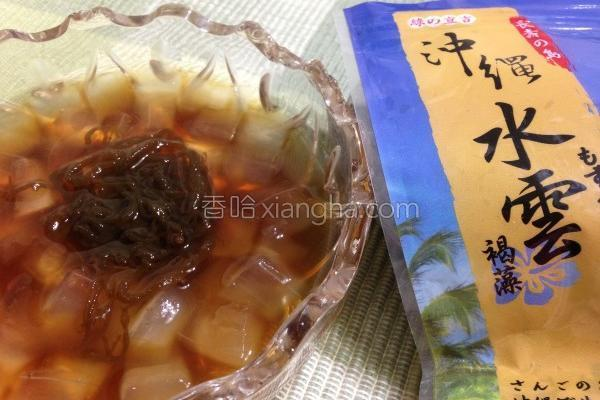 黑糖蜜芦荟露的做法