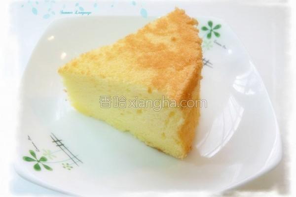 面粉原味戚风蛋糕的做法