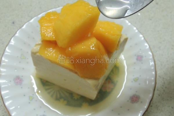凉拌芒果豆腐塔的做法