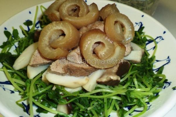 鲜嫩QQ豌豆苗的做法