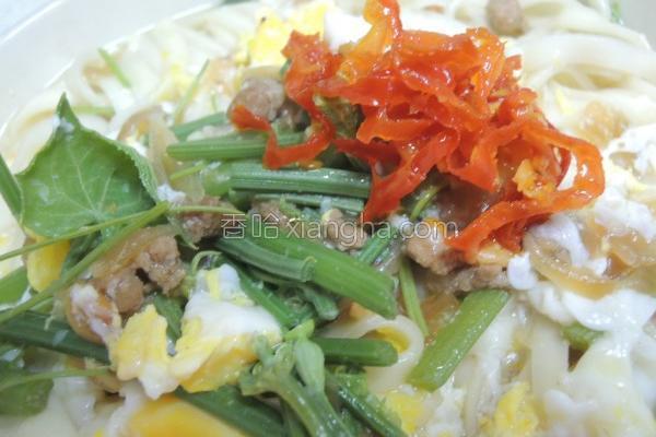 青菜肉燥蛋拌面的做法