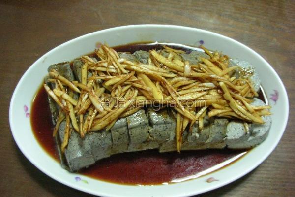 梅渍嫩姜拌豆腐的做法