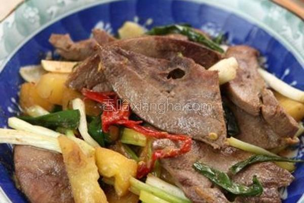 凤梨炒猪肝的做法