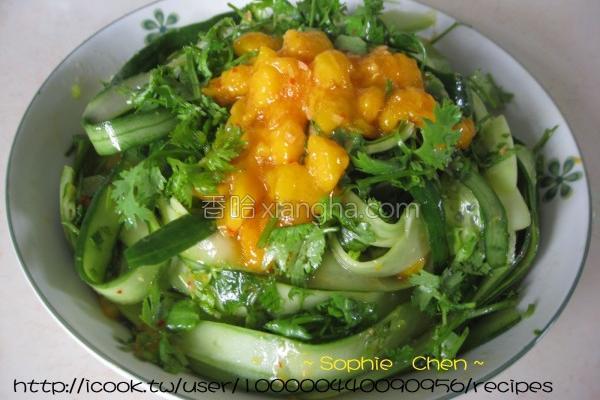 芒果酱拌黄瓜的做法