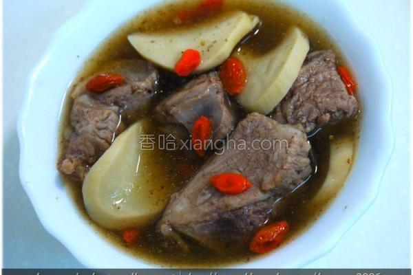 黑木耳梅汁排骨汤的做法