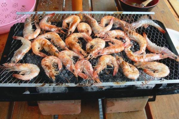 盐烤鲜虾的做法